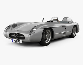 Mercedes-Benz 300 SLR with HQ interior and Engine 1955 3D