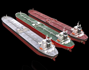 Tanker oil 245m 3 in1 3D model