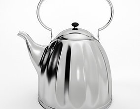 Large Classic Nickel Plated Kettle 3D model
