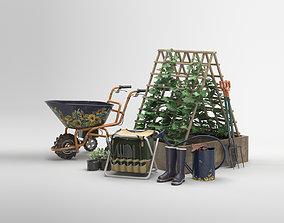 shovel Garden tools set 01 3D model