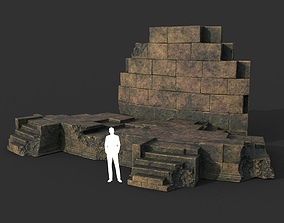 3D model Low poly Ancient Roman Ruin Construction 07 - 2
