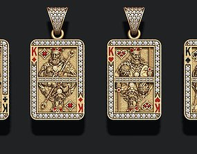 playing cards kings pack set 3D print model