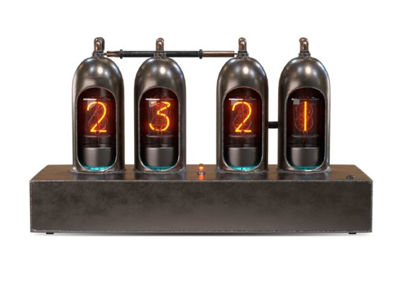 Retro-futurism style clocks