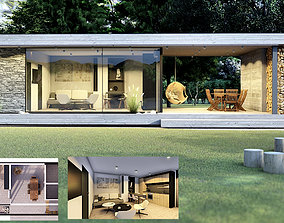 3D model EMA 54 vacation house residential house tiny