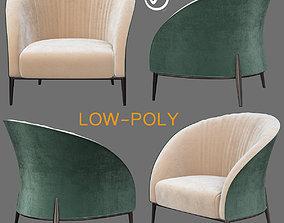3D asset Blue Lounge Chair