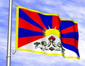 3D Tibetan Flag