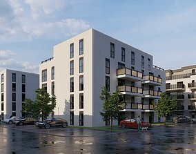 Residential complex of two buildings in Germany 3D