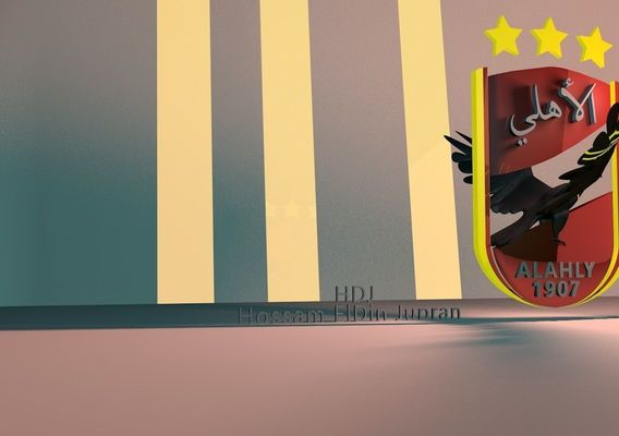 al ahly football 3D logo