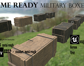 Military supply boxes Ammo boxes 3D asset