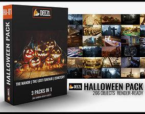 Halloween Pack - 3 in 1 3D asset