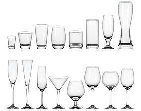 Set of glasses 3D drink
