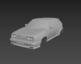 3D printable model Volkswagen Golf Mk2 Rallye Body For