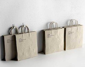 bag Recycled Paper Bag 3D