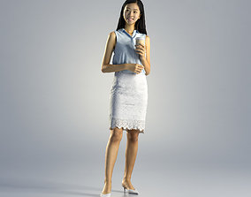 3D Woman Emily Business Standing 002