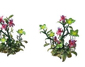 3D Hanging Garden - Xian Yun flowers combination 02