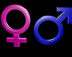 3D model Symbols of gender 2