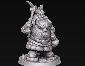 3D printable model Dwarf miner