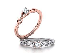 Heart Engagegment ring 115 3D print model
