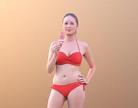 Elena 10456 - Bikini Model eating icecream VR / AR ready