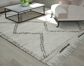 Moroccan Beni Ourain rug 3D