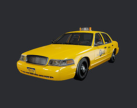 3D model Taxi Cab Vehicle Game Ready