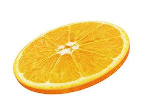 3D Orange round slice