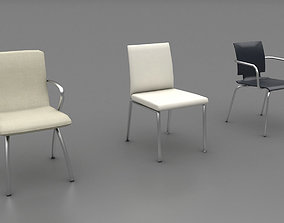Lowpoly Chairs Pack 3D asset