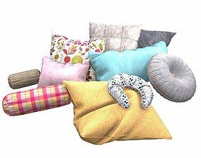 3D model Pillow Set roll