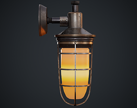 Steampunk wall light 3D model