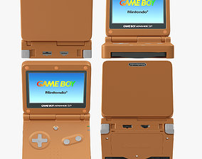 Game Boy Advance SP orange 3D