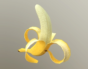 3D model Banana Animated Low Poly
