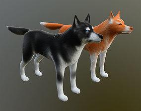 Siberian Husky Dog - lowpoly 3d model game-ready