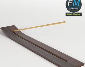 Incense stick on holder 3D PBR