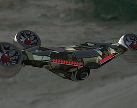 Advanced drone model - 3 variants game-ready