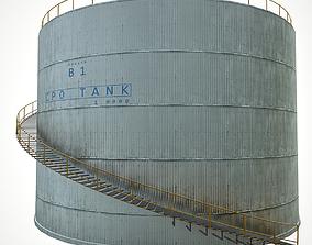 3D asset low-poly Oil tank