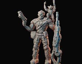 3D print model Sci fi alien mercenaries