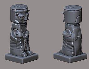 3D model Aztec figure
