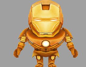 chicken iron man 3D asset