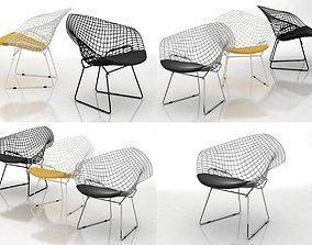 Bertoia Small Diamond Chair 3D