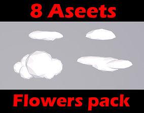 Clouds - pack 3D asset