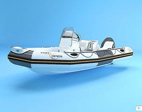 3D model Zodiac Boat pro open 550
