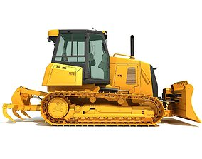 3D Bulldozer Construction Dozer