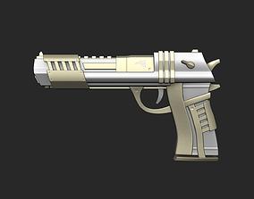 3D asset Sci-Fi Desert Eagle - Golden Luxury Gun