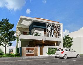 3D MODERN RESIDENTIAL BUILDING