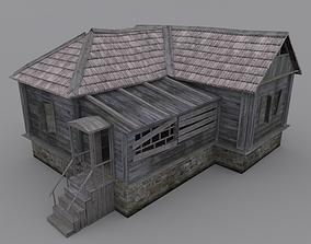 Old Wood House 3D model