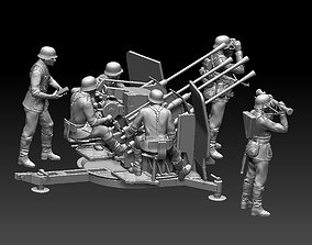 3D printable model German soldiers flak 38