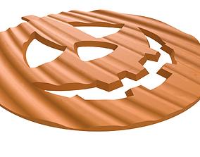 3D print model Drink coaster - Halloween pumpkin