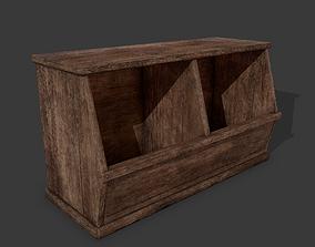 Wooden Storage Bin 3D asset