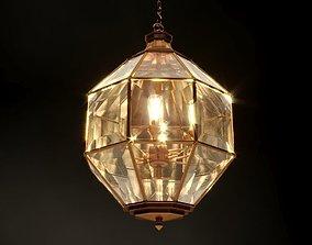 3D model Bronze metallic chandelier Lantern Oven L
