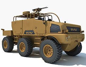Yellow TMV tank 3D model